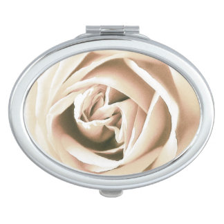 White rose print mirror for makeup