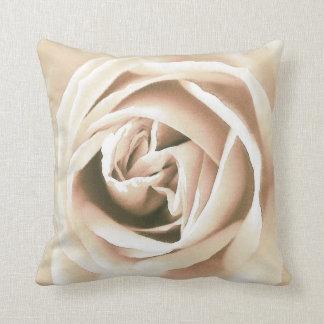 White rose print throw pillow