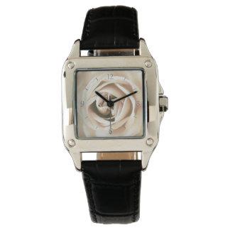 White rose print watch