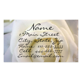 White Rose, Profile Card Business Card