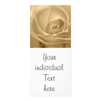 white rose personalized rack card
