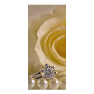 White Rose, Ring and Pearls Wedding Program