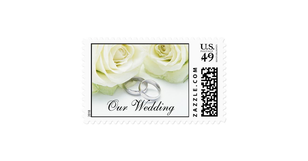 postage stamps for wedding invitations white rings wedding invitation postage stamp zazzle 6730
