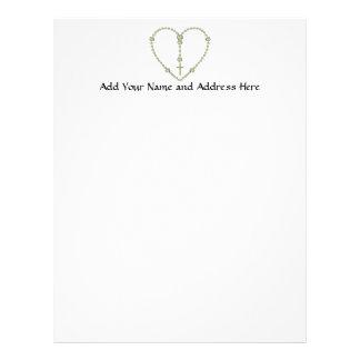 White rose Rosary Letterhead Design