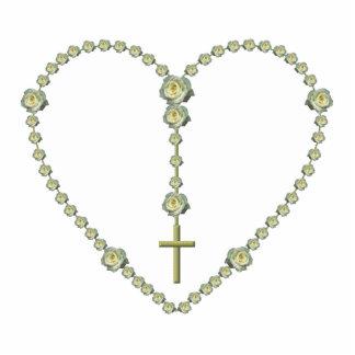 White rose Rosary Photo Cutouts