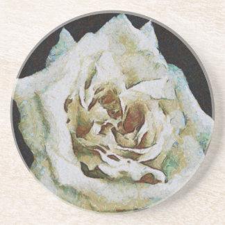 White Rose Sandstone Coaster