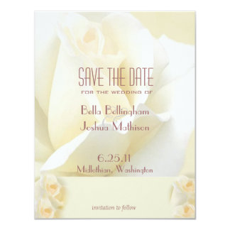 White Rose Save the Date Announcement