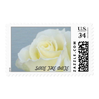 White Rose Save the Date Postage 29 cent