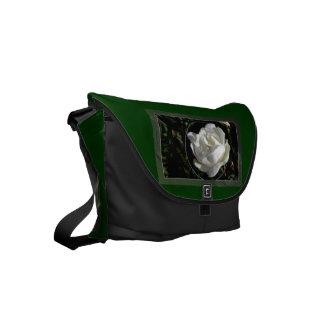 White Rose Small Messenger Bag