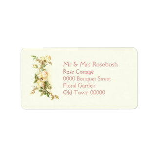 White rose spray address label