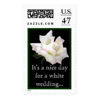 White Rose Stamp...Wedding Postage