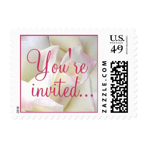 White Rose Stamp, You're invited...