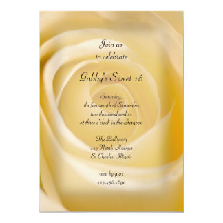 White Rose Sweet 16 Birthday Party Invitation