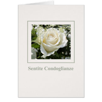 white rose sympathy card italian