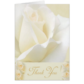 White Rose Thank You Note card