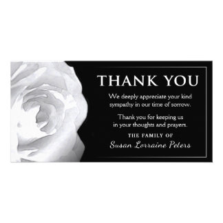 White Rose Thank You Sympathy from Family Card