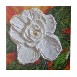 White Rose Tile
