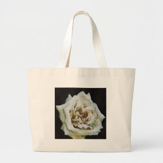 White Rose Tote Bags