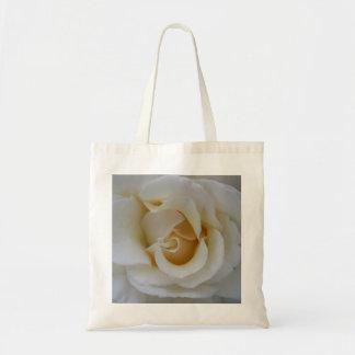 White rose tote budget tote bag