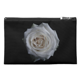 White rose travel accessory bag