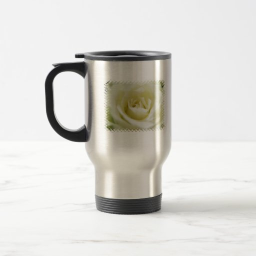 White Rose  Travel Mug