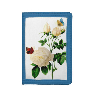 White Rose Trifold Wallet