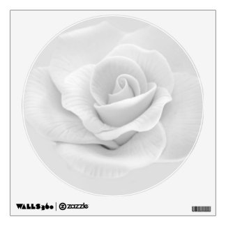 White Rose Wall Decal