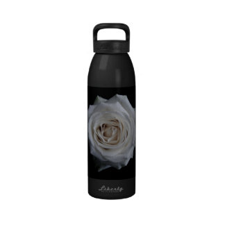 White rose drinking bottles