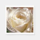 White Rose Wedding Bridal Shower Napkins Paper Napkin