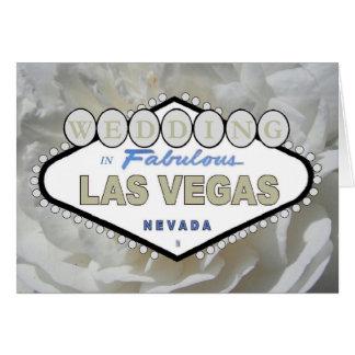White Rose WEDDING in Fabulous Las Vegas Announcem Greeting Card