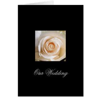 White Rose Wedding Invitation Greeting Card