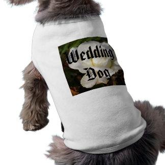 White Rose Wedding January Bridal Party Gifts Pet Shirt