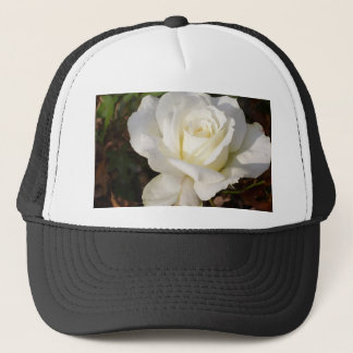 White Rose Wedding January Bridal Party Gifts Trucker Hat