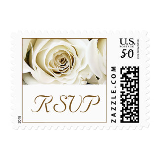 White Rose Wedding RSVP Postage