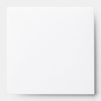 White rose wedding square matching invite envelope