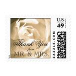 White Rose Wedding Thank You Postage Stamp