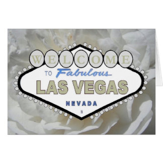 White Rose Welcome To Fabulous Las Vegas Card