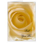 White Rose Will You Be My Bridesmaid Greeting Card