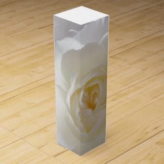 White Rose Wine Box Personalize Gold Rose Wine Box