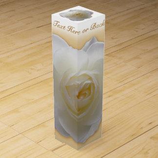 White Rose Wine Box Personalized Rose Wine Box
