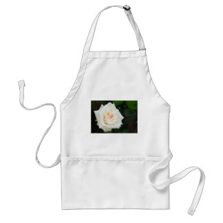 White Rose With Natural Garden Background Apron