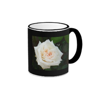 White Rose With Natural Garden Background Coffee Mug