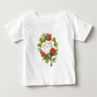 White Rose with Red Buds Baby T-Shirt