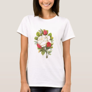 White Rose with Red Buds T-Shirt