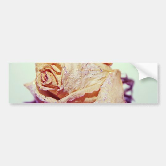 White Rose with Sparkles Bumper Sticker