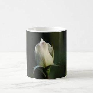 White rosebud coffee mug