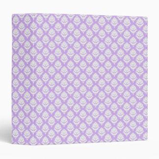 White Rosebuds on Pastel Purple 1 Binder