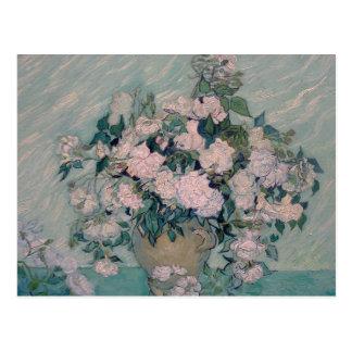 white roses-1890-vincent van gogh postcard