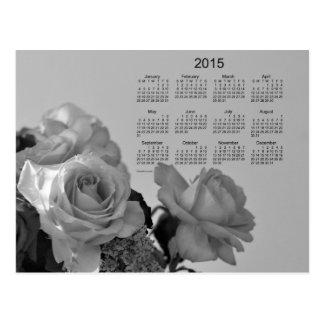 White Roses 2015 Mini Calendar by Janz Postcard