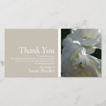 White Roses 3 Sympathy Thank You matching Stamp
